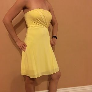 Yellow cocktail dress